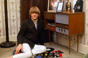 Brian Jones of the Rolling Stones with his HiFi